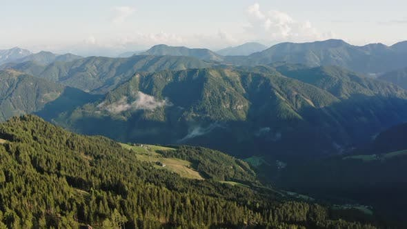 Slopes of the Alps in Summer