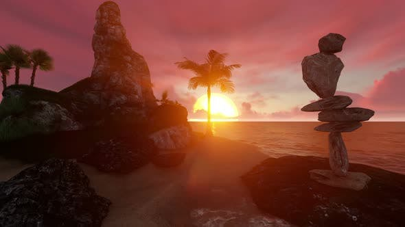 Thumbnail for Sunset Over an Island 1