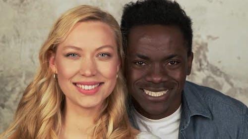 Mixed Race Ethnicity Couple Portrait