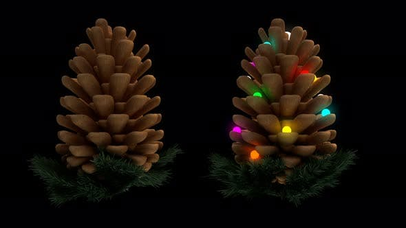 Thumbnail for Pine Cones Seamless Loop