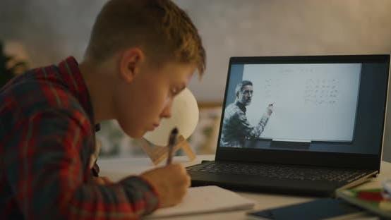 Thumbnail for Boy Having Online Maths Class