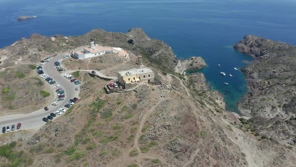 Thumbnail for Drone View of Cap De Creus Cape with Lighthouse