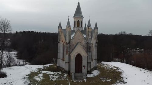Neo Gothic Church of God at Bogushevichi, Belarus