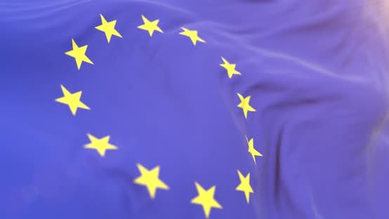 Thumbnail for Realistic Europe Flag Close Up 4K Loop