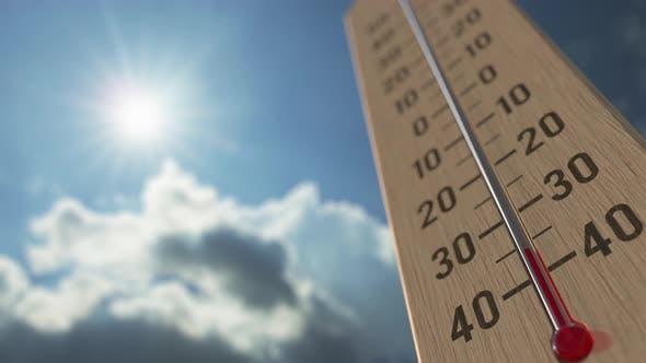 Outdoor Thermometer Reaches Minus 10 Ten Degrees Centigrade