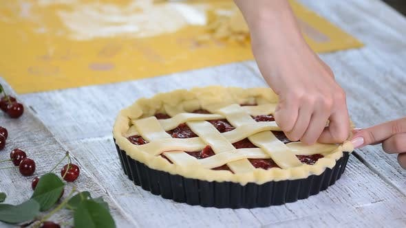 Cherry pie in the making