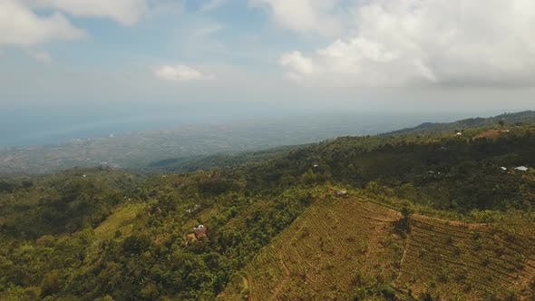 Thumbnail for Mountain Landscape with Valley and Village Bali Indonesia