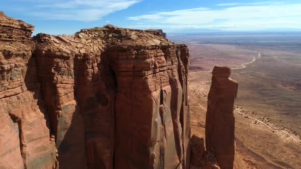 Thumbnail for Drone Flight Close To the East Mitten Butte Overlooking the West Mitten Butte. Monument Valley.