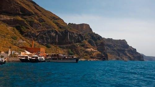 The Rugged Coast of Fira, Santorini, Greece