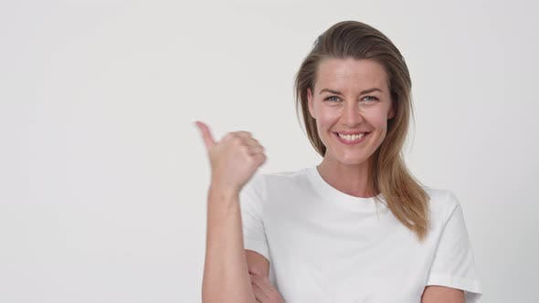 Thumbnail for Beautiful Woman Smiling and Gesturing