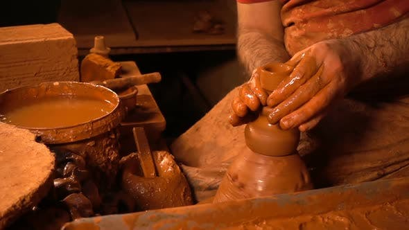 Thumbnail for Pot Made Of Clay Workshop Slow Motion 8