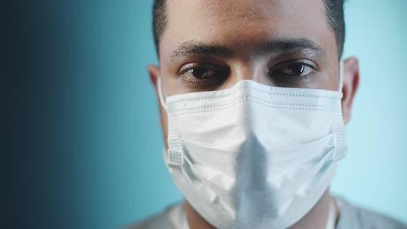 Portrait of Middle Eastern Doctor in Medical Mask