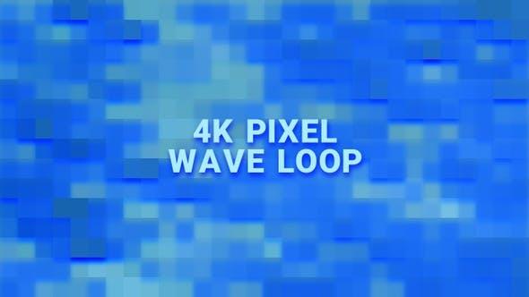 4 K Pixel Wave Loop