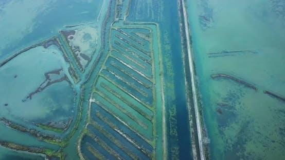 Aquatory der Lagune von Venedig mit Antiflutungsbarrieren