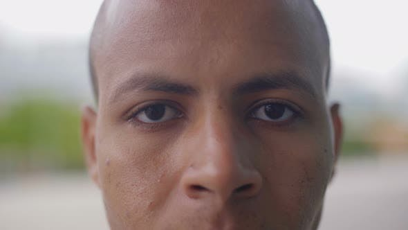Thumbnail for Closeup Shot of African American Man Looking at Camera