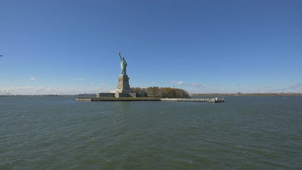 Liberty Island with the Statue of Liberty
