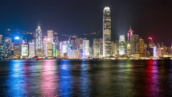 Thumbnail for Victoria Harbor in Hong Kong city at night