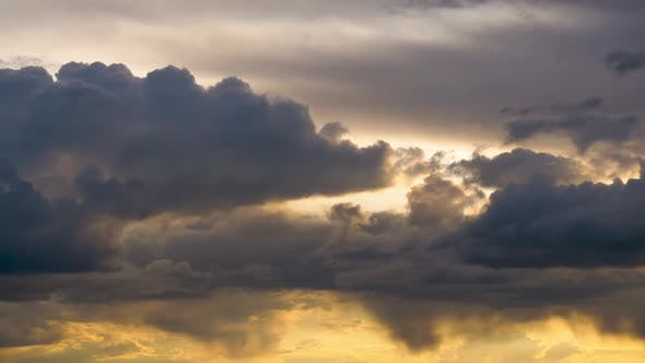Thumbnail for Stormy Clouds Move Smoothly in the Red Sky at Sunset. Timelapse. Cloud Space.