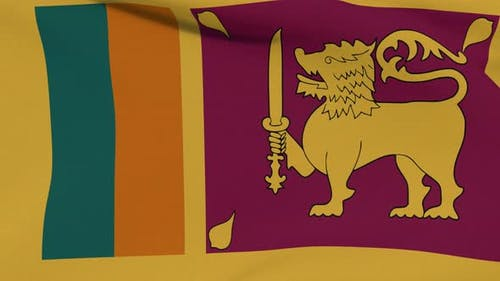 Flag Sri Lanka Patriotism National Freedom Seamless Loop