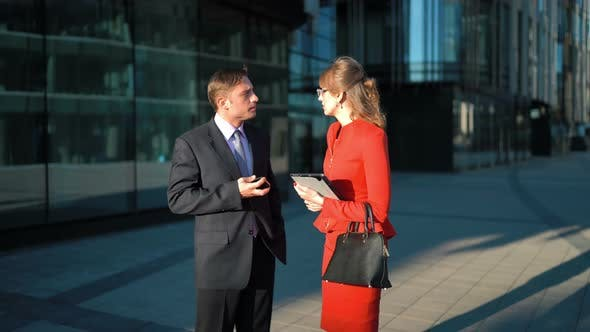 Thumbnail for Businessman Rejecting Businesswoman Offer