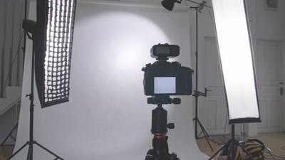Camera In Photo Studio