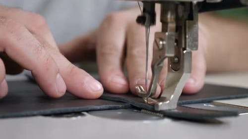 Sewing Leather Products DIY Handmade, Bag, Business, Craft. Small Private Leather Manufacture