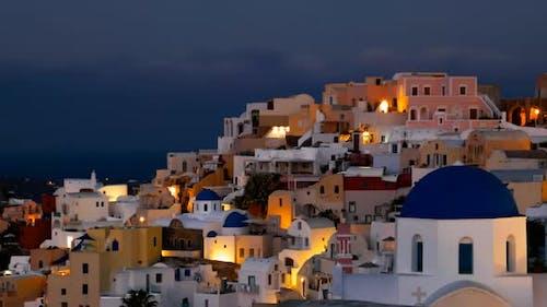 Timelapse of Oia Town at Morning, Santorini