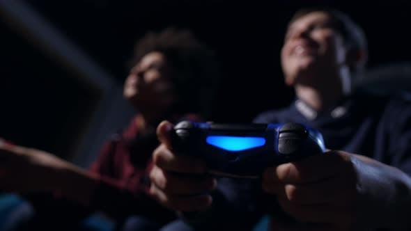 Thumbnail for Closeup Boy's Hands with Joystick Controlling Game