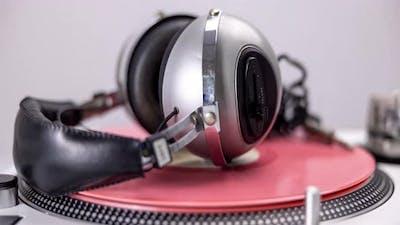 Turntable with Headphones
