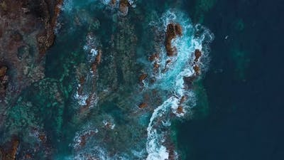 Top View of a Deserted Coast