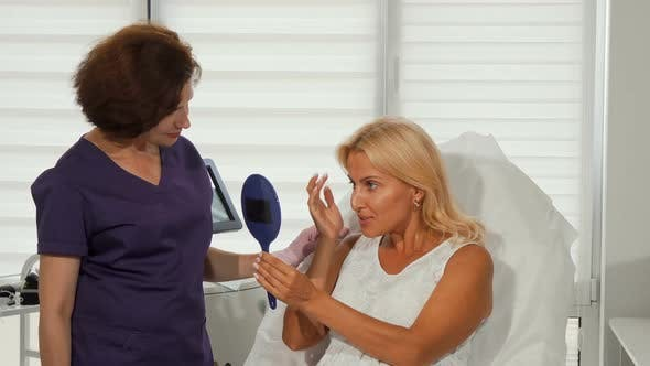 Thumbnail for Beautiful Woman and Her Cosmetologist Smiling To the Camera
