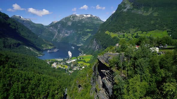 Thumbnail for Geiranger Fjord Norway Beautiful Nature Norway Natural Landscape