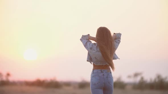 Thumbnail for Girl with Long Hair and Jeans