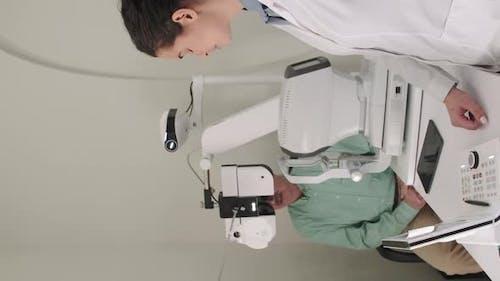 Oculist Doing Eyesight Examination