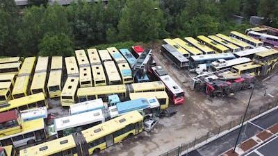 Abandoned Broken Old Buses 4K