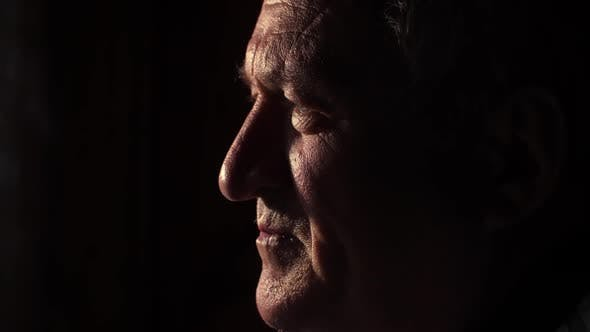 Thumbnail for Elderly Sad Man in the Dark