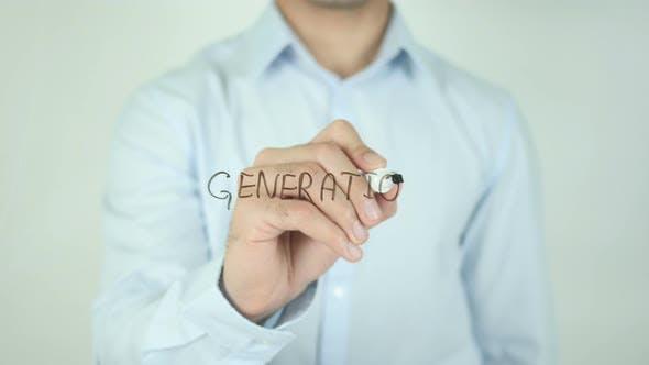 Generation, Schreiben auf dem Bildschirm