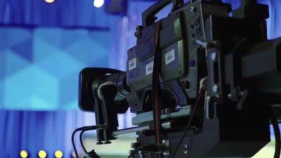 Camera in Tv Studio During Tv Recording