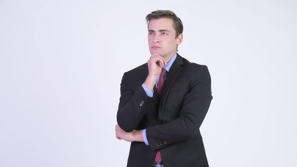 Thumbnail for Young Handsome Businessman Thinking
