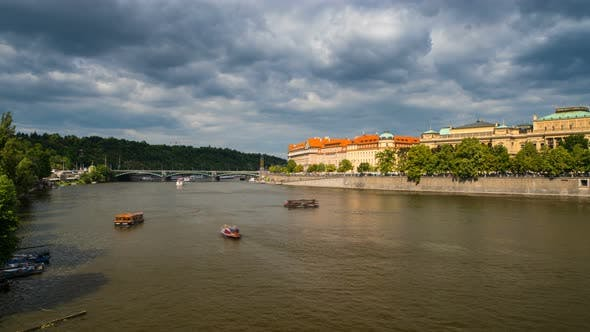 Thumbnail for Panoramic View on Vltava River in Prague