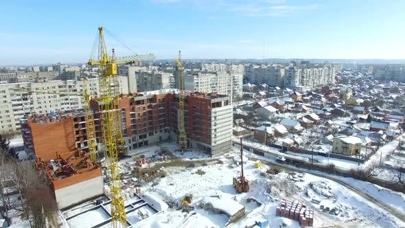 Thumbnail for Construction Site with Cranes