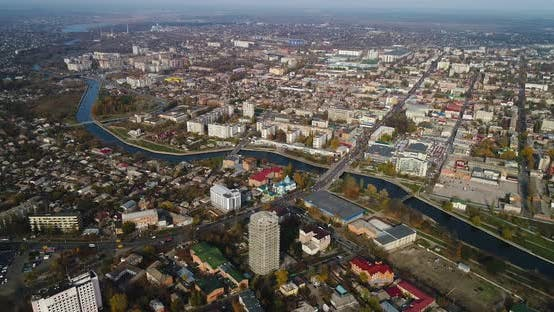 Thumbnail for Aerial View of Cityscape in Kropivnitskiy City
