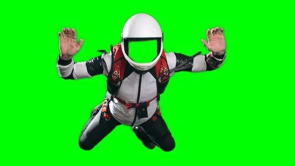 Thumbnail for Parachutist Giving Thumb Up Template