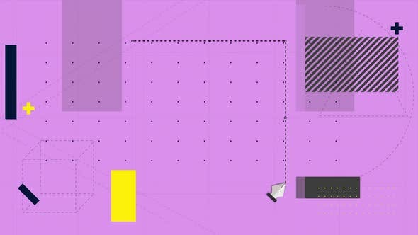 Thumbnail for Software tools cutting a removing a section of pink grid background