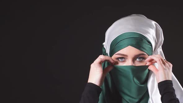Thumbnail for Young Islamic Woman in National Costume Posing for the Camera