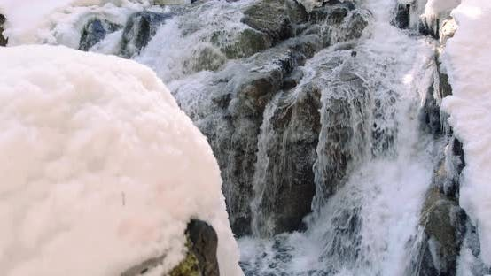 Thumbnail for Epic Frozen Waterfall Gimbal Reveal With Pristine Winter Snow