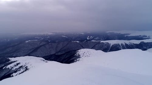 Fantastic view of the winter ski slope