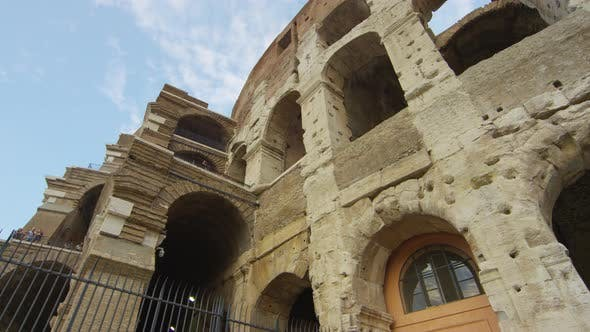 Thumbnail for The Colosseum walls and arches in Rome