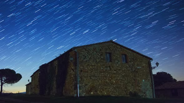 Thumbnail for Old Stone House and the Starry Sky