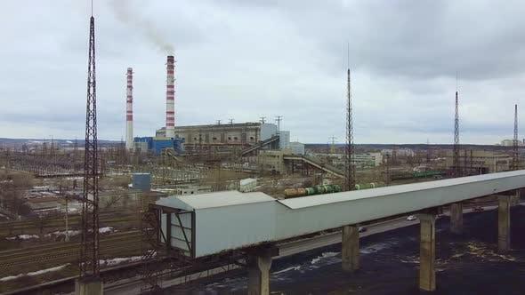 Bird'seye View of Big Industrial Plant